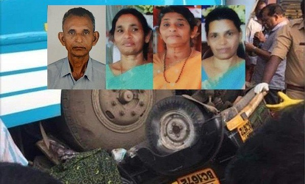 Four killed in bus-auto collision in Angamaly