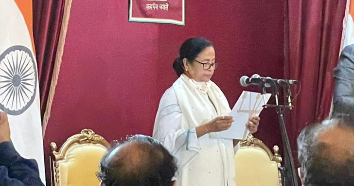 Mamata sworn-in as Bengal CM for third time, vows to fight COVID, violence