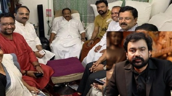 Monson Mavunkal has high political connections, pic with K Sudhakaran out